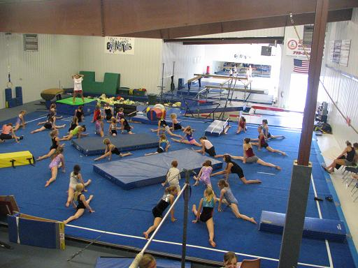 Students getting ready for at Twin Ports Gymnastics